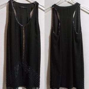 Ark & Co Black Tunic w/Bead and Sequin detail SM